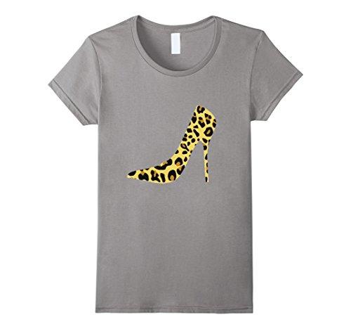 Leopard Dyr Ut Skoen T-skjorten Høy Hæl Pumpe Stilett Skifer