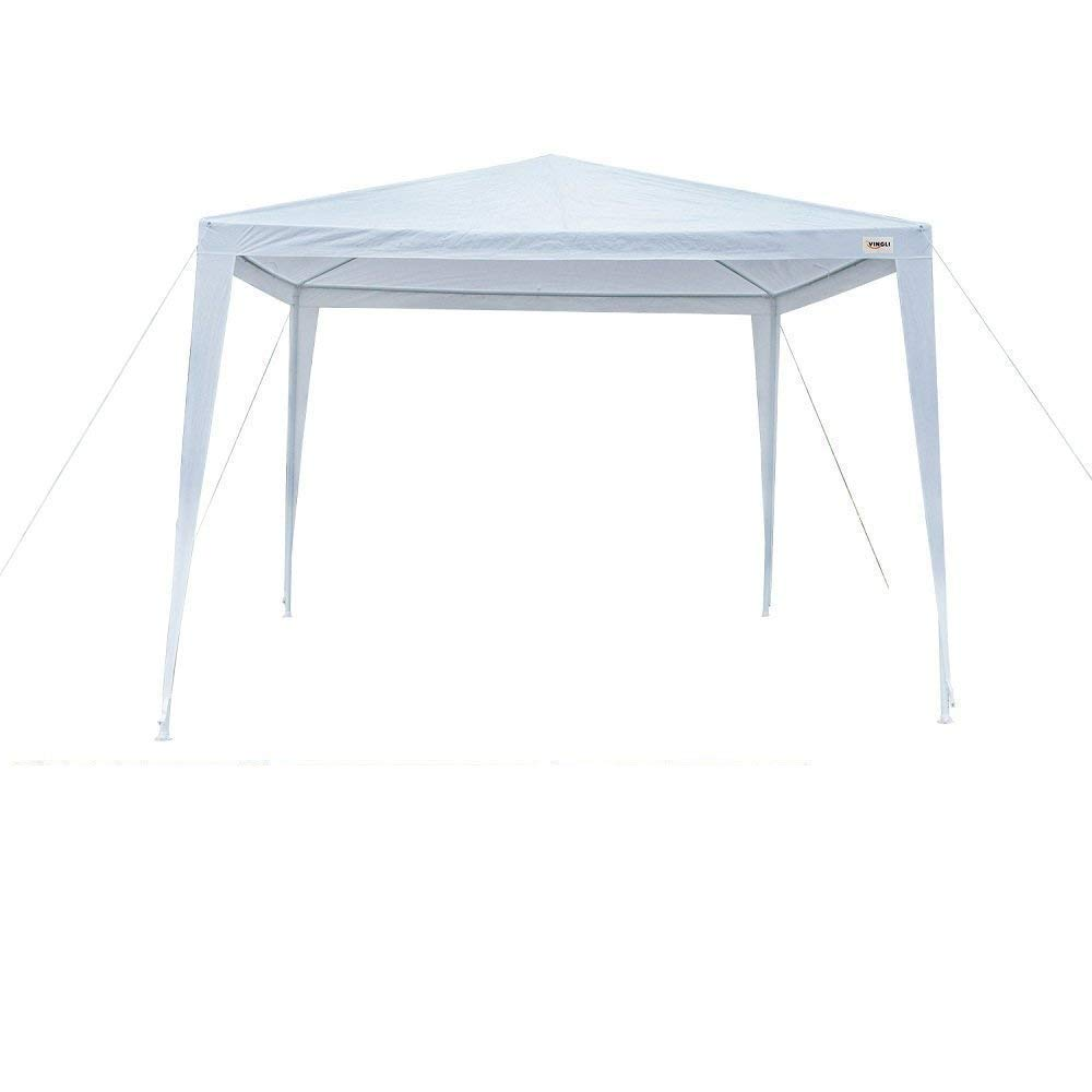 VINGLI 10' x 10' Outdoor Canopy Wedding Party Tent, Upgraded Thicker Tube Steady Unique Frame Design,Sun Shelter Anti-UV,Event Gazebo Pavilion Beach Backyard Patio Garden
