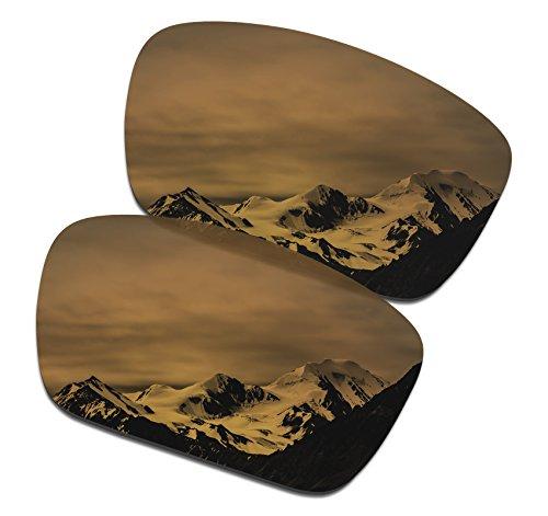 SmartVLT Men's Bronze Gold Replacement Lenses for Oakley Fuel Cell - Size Cell Fuel