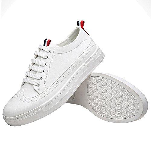 Herren Sneaker rismart Schuhe Schnürsenkel Modern Brogue Weiß fCddqUwp