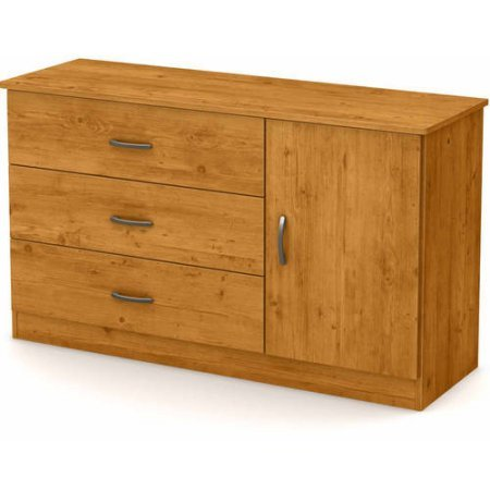South Shore Smart Basics 3-Drawer Dresser with Door (Country Pine) (Country 6 Drawer Dresser)