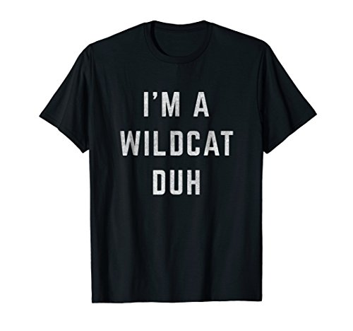 Distressed I'm a Wildcat Duh Halloween Costume -