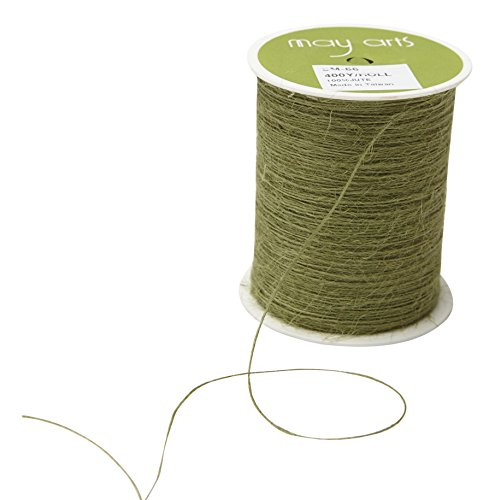 May Arts SM-66 String Burlap Ribbon, 400 yd, Sage by May Arts