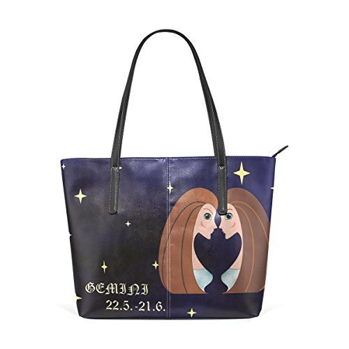 LEISIS Gemini Women's Leather Tote Shoulder Bags Handbags