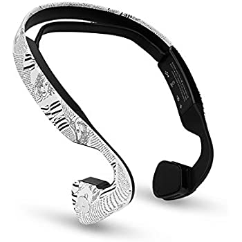Open-ear Wireless Bone Conduction Headphones Bluetooth Stereo headset , Sweatproof, water resistant sports headphone for Smartphones Gym, Exercise and Workout,Running