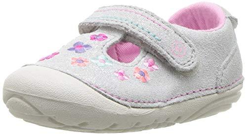 Stride Rite Girls' SM Tonia Sneaker, Silver, 4 M US Toddler ()
