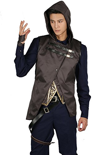 Corvo Costume Outfit Suit for Mens Halloween Cosplay Xcostume L - Dishonored Costume Corvo