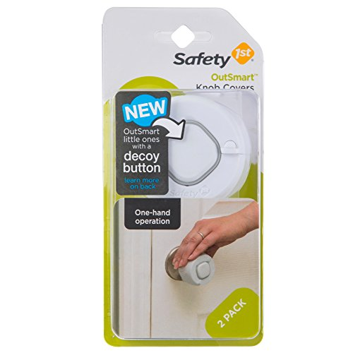 Safety 1st Clear Grip - Safety 1st OutSmart Knob Covers, 2 Pack, White