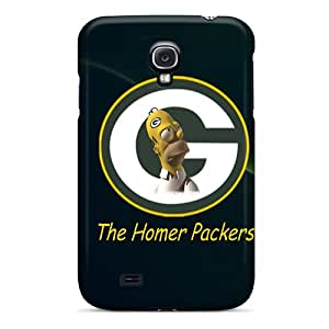 Bumper Hard Phone Cover For Samsung Galaxy S4 (JAd2150NqqV) Support Personal Customs Attractive Green Bay Packers Pictures