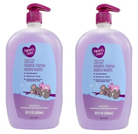 Parent's Choice Tear-Free Calming Night-Time Baby Bath, 28 fl oz (Pack of 2) Parent' s Choice.