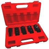 Simply Silver - 5pc 1/2'' DR FLIP LUG NUT IMPACT SOCKET METRIC/SAE MAG Car Rim WHEEL Thin Wall