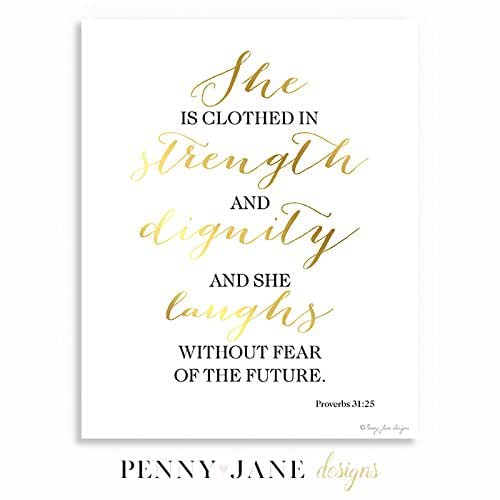 photograph regarding Printable Art Prints identified as : She is Clothed within just Electricity and Dignity Artwork Print