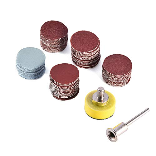 fayle Sandpaper+Grinding Disc Set 1 Inch Tool 1//8 Power Accessories Cleaning Polishing tary Grit Pads Mini Drill Flexible Kit