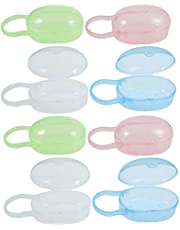Generic 8Pcs Baby Pacifier Case Plastic Pacifier Box Travel Nipple Shield Holder Outdoor Infant Pacifier Container Baby Accessories for Travel Trip Mixed Color