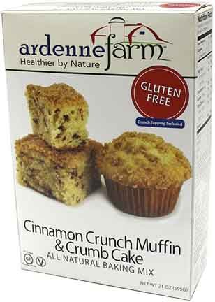 Crumb Cake Muffins (Ardenne Farm Gluten Free Cinnamon Crunch Muffin and Crumb Cake Mix, 21 Ounce)