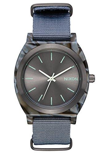 Nixon Men's The Time Teller Acetate Watch, Grey/Gunmetal, One Size