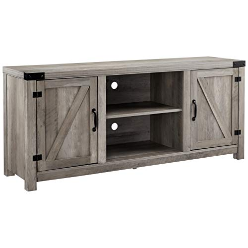 Rockpoint HX2019-13 Entertainment Stand, TV Console, Grey -