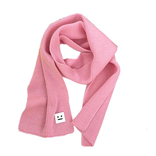 FEITONG Fashion Smile Children Knitted Scarf Winter Keep Warm Girls Boys Scarves
