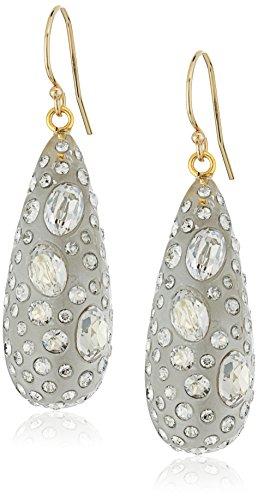 (Alexis Bittar Silver-075 Diamond Dust Dewdrop Earrings )