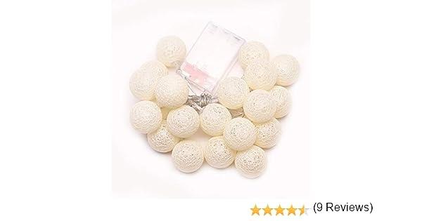 Hemore 2.3 m 20 LED Bola de Hadas de algodón Luces Decorativas ...