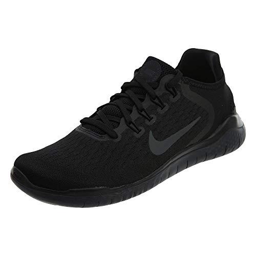 (NIKE Mens Free RN 2018 Running Sneakers Black/Anthracite (7.5 D(M))