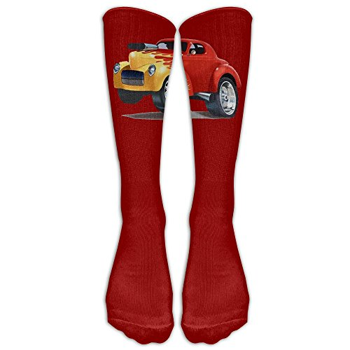 Price comparison product image Classic Cartoon Cars Unisex Tube Socks Knee High Sports Crew Fashion Novelty Crew Fashion Novelty Socks Underwear Tube Socks Knee High Sports
