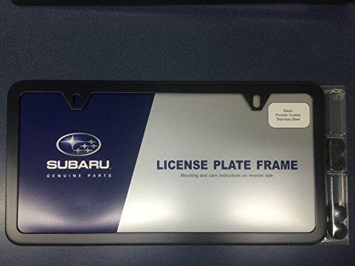 Tribeca Polished Steel - Subaru Geniune Slimline License Plate Frame Polished MATTE BLACK OEM SOA342L105 ALL MODELS