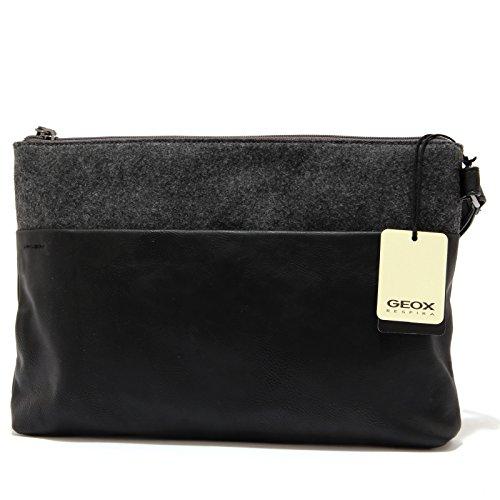 0401U pochette donna GEOX ecopelle nero bag woman Nero