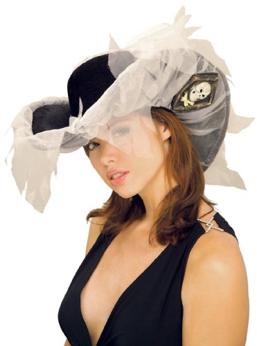 [Ghost Ship Pirate Hat Adult, One Size, Gray] (Ghost Pirate Costume)
