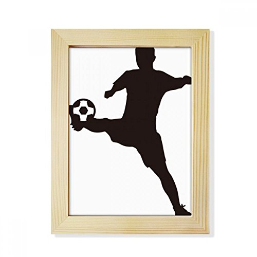DIYthinker Sihouette Football soccer Sports Desktop Wooden Photo Frame Picture Art Painting 6x8 inch by DIYthinker