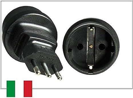 2x Adapter//Stecker Chile Italien USA Amerika zum Anschluss in Deutschland Typ X