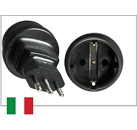 DINIC CB-A-NIT-FM Tipo L (IT) Negro Adaptador de Enchufe eléctrico - Adaptador para Enchufe: Amazon.es: Bricolaje y herramientas