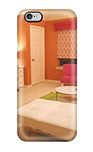 Alison Marvin Feil's Shop Rugged Skin Case Cover For Iphone 6 Plus- Eco-friendly Packaging(orange And Pink Teen Room With Sitting Area And Two Desks) 1942984K63617425