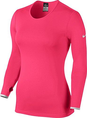 Nike Women's Pro Hyperwarm Crew 3.0 Training Shirt-Hyper Pink-XS