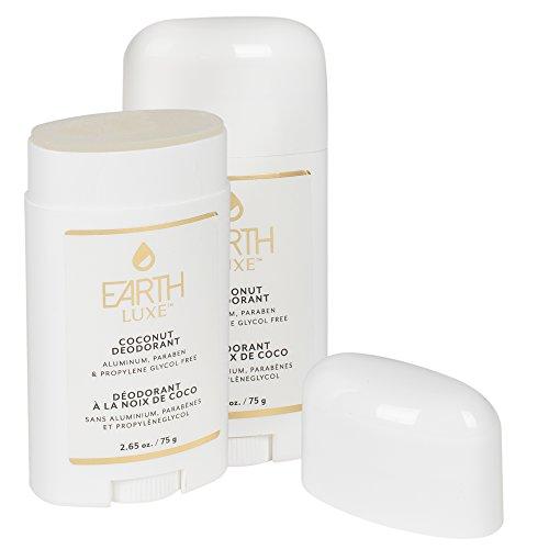 Earth Luxe Coconut Oil 2.65 Ounce Aluminium Free Deodorant Pack of 2