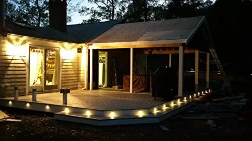 FVTLED 30pcs Low Voltage LED Deck Lights kit Φ1.38'' Outdoor Garden Yard Decoration Lamp Recessed Landscape Pathway Step Stair Warm White LED Lighting, Bronze by FVTLED (Image #9)