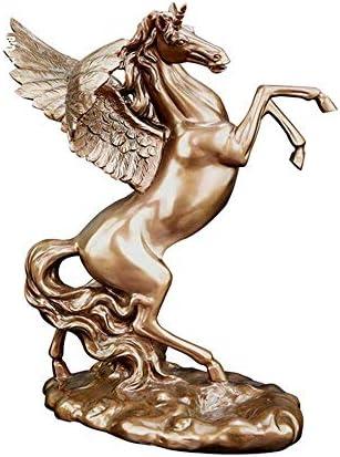 Estantería de vino Titular de la botella de vino, creativo Pegasus estante del vino artesanías de resina adecuados for adornos de la sala de estar gabinete del vino decoración del hogar estante de vin
