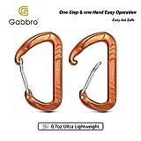 Gabbro Carabiner, 4 Pack 12kN Wiregate Carabiner