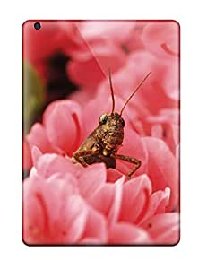 ChrisWilliamRoberson NmnZzxi13470fuOMb Protective Case For Ipad Air(grasshopper On Pink Flowers)