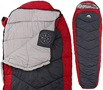 Warm Weather XL Mummy Sleeping Bag 3 Season Summer Bag with Compression Sack for Camping Compact Lightweight Backpacking /& Hiking Fits Adults up to 66 Tough Outdoors Comfort Temperature Range of 60/°F+