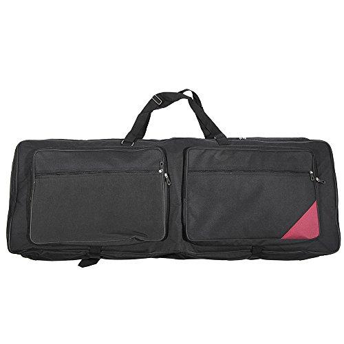ammoon 73-Key 76-Key Keyboard Electric Piano Organ Gig Bag Soft Case 46.4'' * 16.5'' Durable 600D Cloth PE Foam Padded Dual Zipper by ammoon