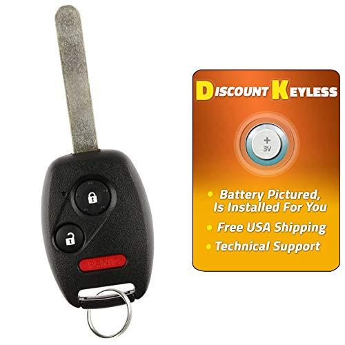 Discount Keyless Replacement Uncut Car Remote Blank Ignition Transponder Key Fob For Honda Pilot CWTWB1U545