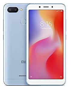 XIAOMI Redmi 6 GSM Unlocked 64GB Smartphone with 12MP+5MP Vivid Cameras, 5.45-inch HD Full Screen Display and AI Face Unlock - Blue