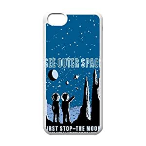 Retro Futurama Poster Cartoon 0 iPhone 5c Cell Phone Case White Customize Toy zhm004-3849361