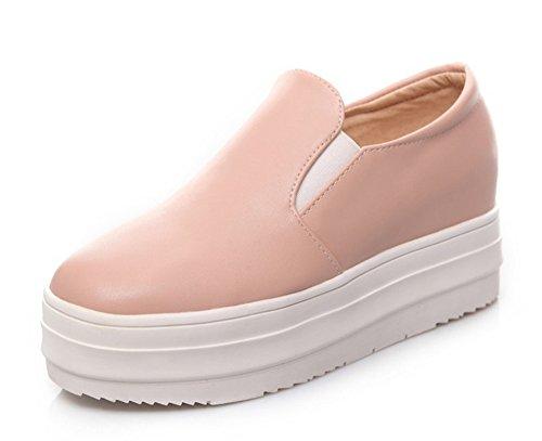 Loafers Sneakers Moyen Aisun Plateforme Rose Femme Talon Confortable YIwxSqXnvA