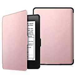 Fintie Slimshell Case for Kindle Paperwhite – Fits All Paperwhite Generations Prior to 2018 (Not Fit All-New Paperwhite 10th Gen), Rose Gold