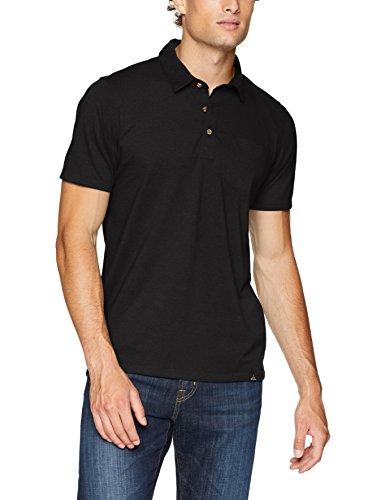 prAna Men's Standard Polo, Black, X-Large