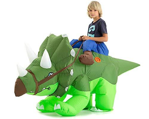 Hsctek Inflatable Triceratops Costume Kids, Halloween Inflatable