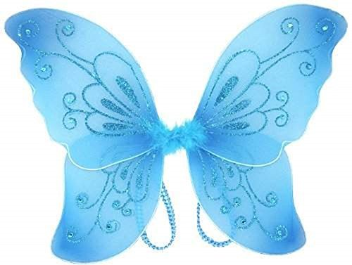White Sparkling Fairy Costume Wings (Blue) -