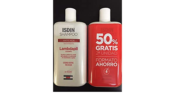 Amazon.com: PACK 2x ISDIN LAMBDAPIL ANTI HAIR LOSS ANTICAIDA SHAMPOO 400ml TOTAL 800ml Treatment Hair: Beauty